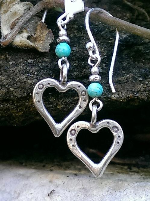 Turqoise  hilltribe heart