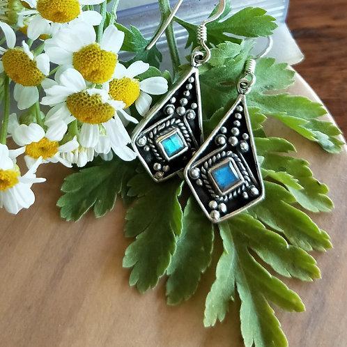 Labradorite Shield earrings