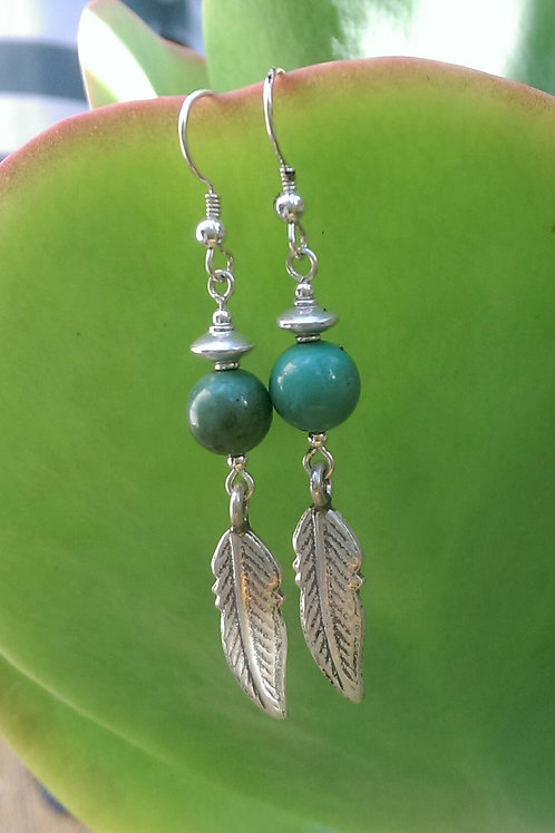 Turquoise with feather