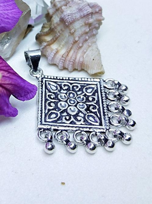 Silver Rajasthan pendant