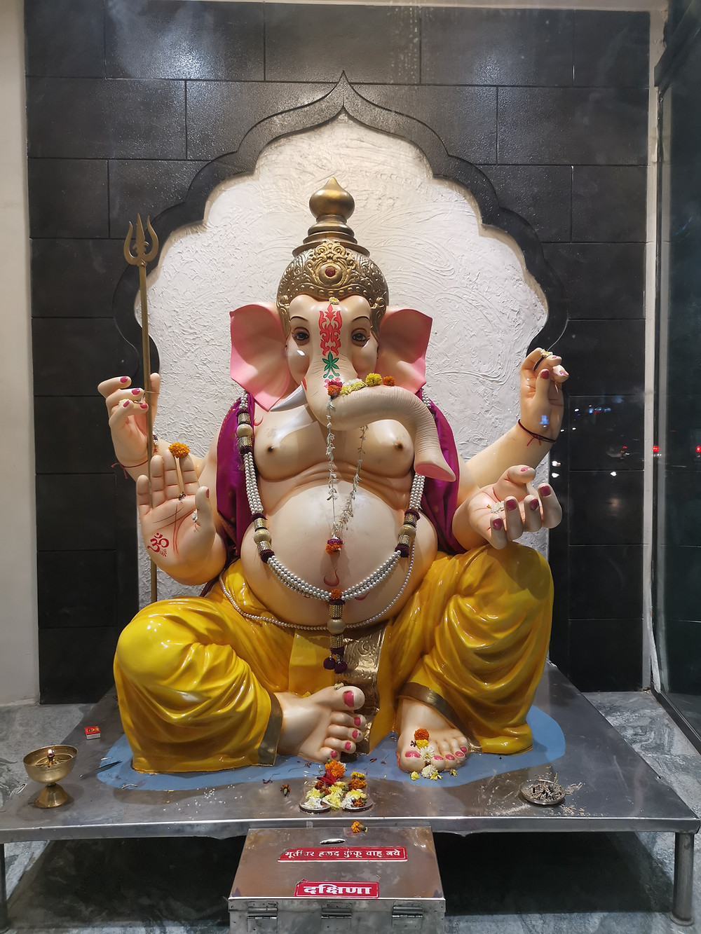 Our local shrine to Ganesh (one of many) He is widely adored in Pune