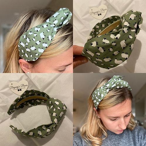 Sage Sheep Headband