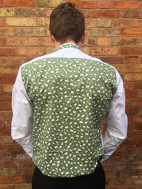Sheep Pattern Evening Shirt, Bow Tie & Cufflinks