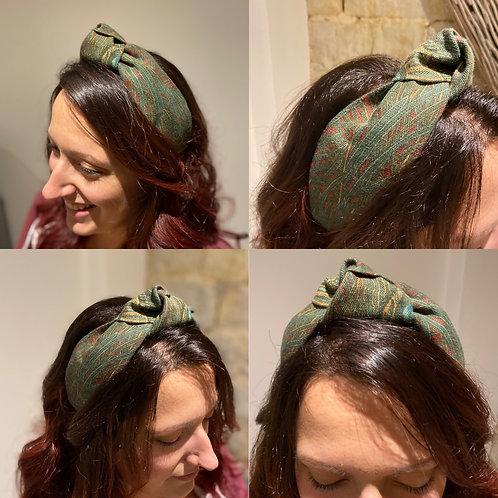 Hera Azure Burgundy Headband