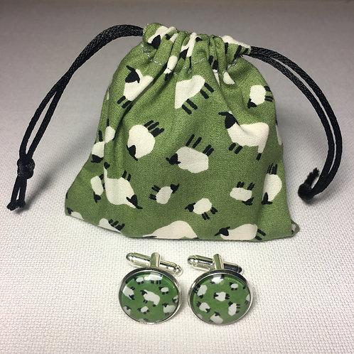 Green Sheep Cufflinks