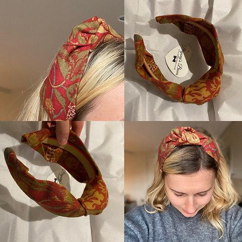 Strawberry Thief Headband Red