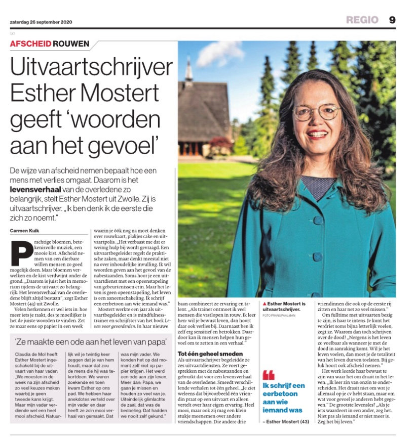 De Stentor - artikel uitvaartschrijver.j