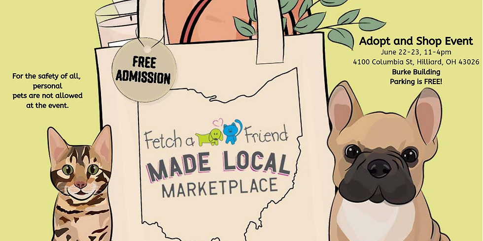 Fetch A Friend + Made Local Marketplace Adopt and Shop