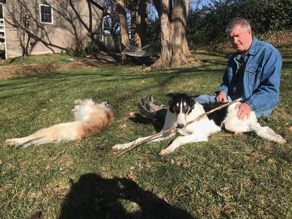 Nik with his Dad in Kansas