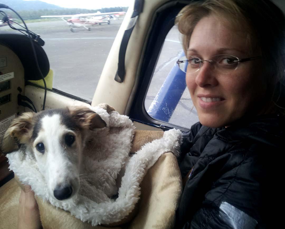 Czarina on her plane ride home