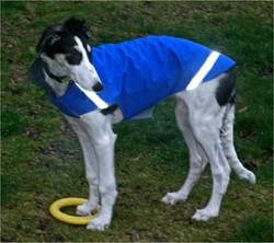 Leeza in her new rain jacket