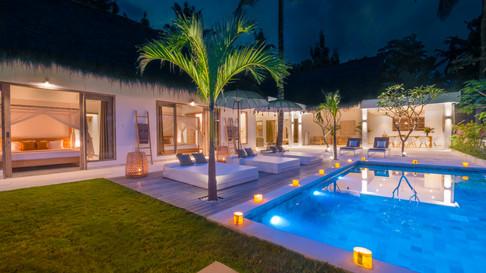 Villa Hidden Jewel at night