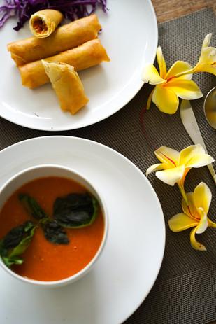 Food springrol tomato soup flower.jpg