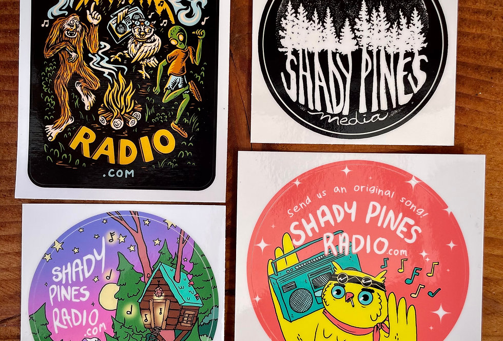 Shady Pines Stickers