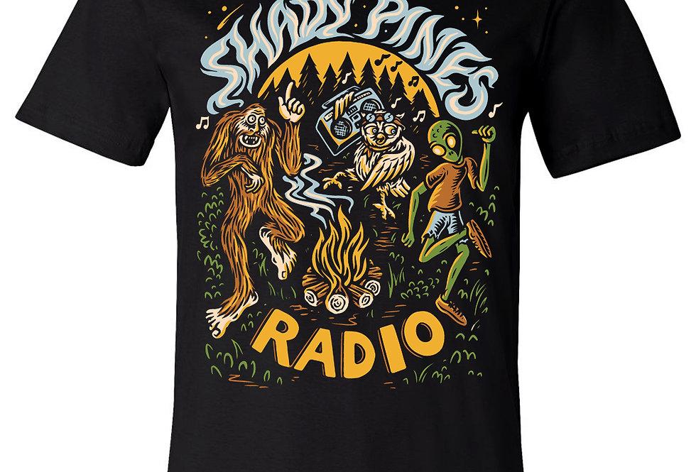 Shady Pines Radio T-Shirts PRE-ORDER (Full Color Bonfire)