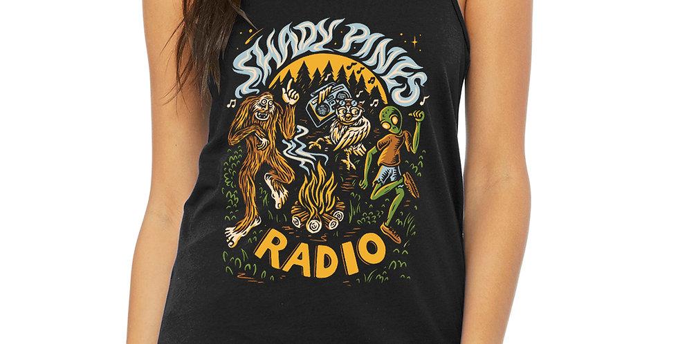 Shady Pines Radio feminine tanks PRE-ORDER (Full Color Bonfire)