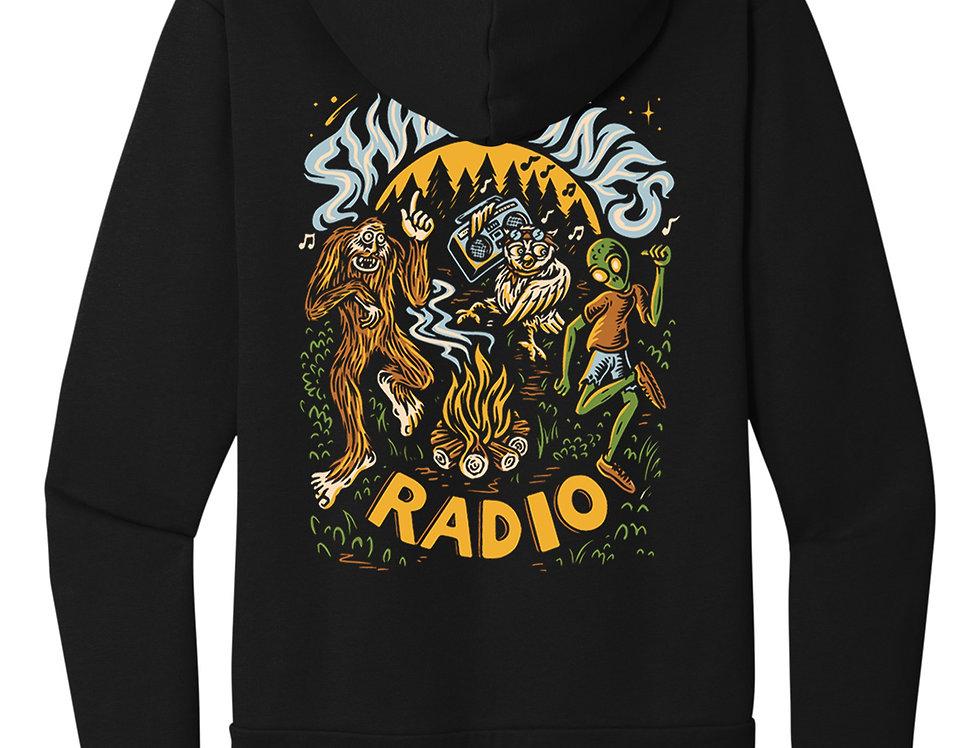 Shady Pines Radio Zip Hoodies PRE-ORDER (Full Color Bonfire)