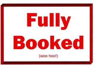 We're Fully Booked for 2019!