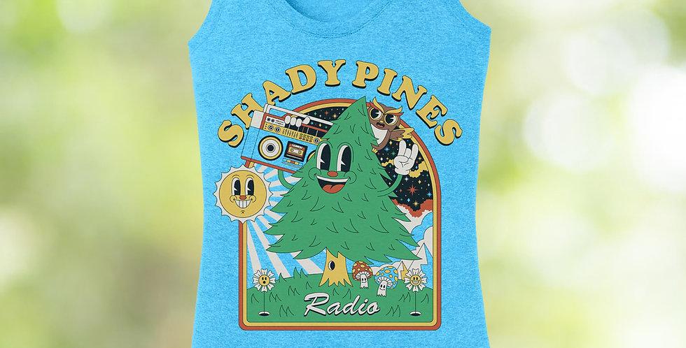 Shady Pines Radio Feminine Tanks (Happy Tree)
