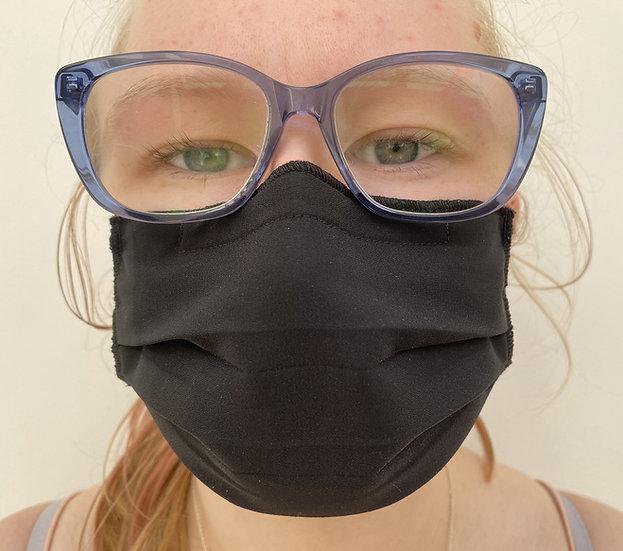 3-pack 3-pleat 40 wash ear loop black mask