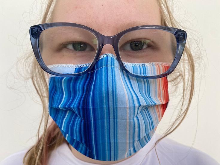 3-pack 3-pleat 40 wash ear loop #climatestripes mask
