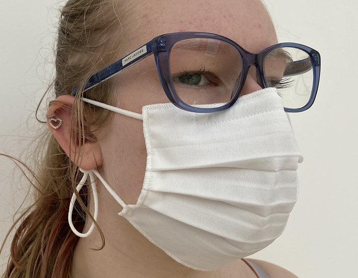 3-pack 3-pleat 40 wash ear loop white mask