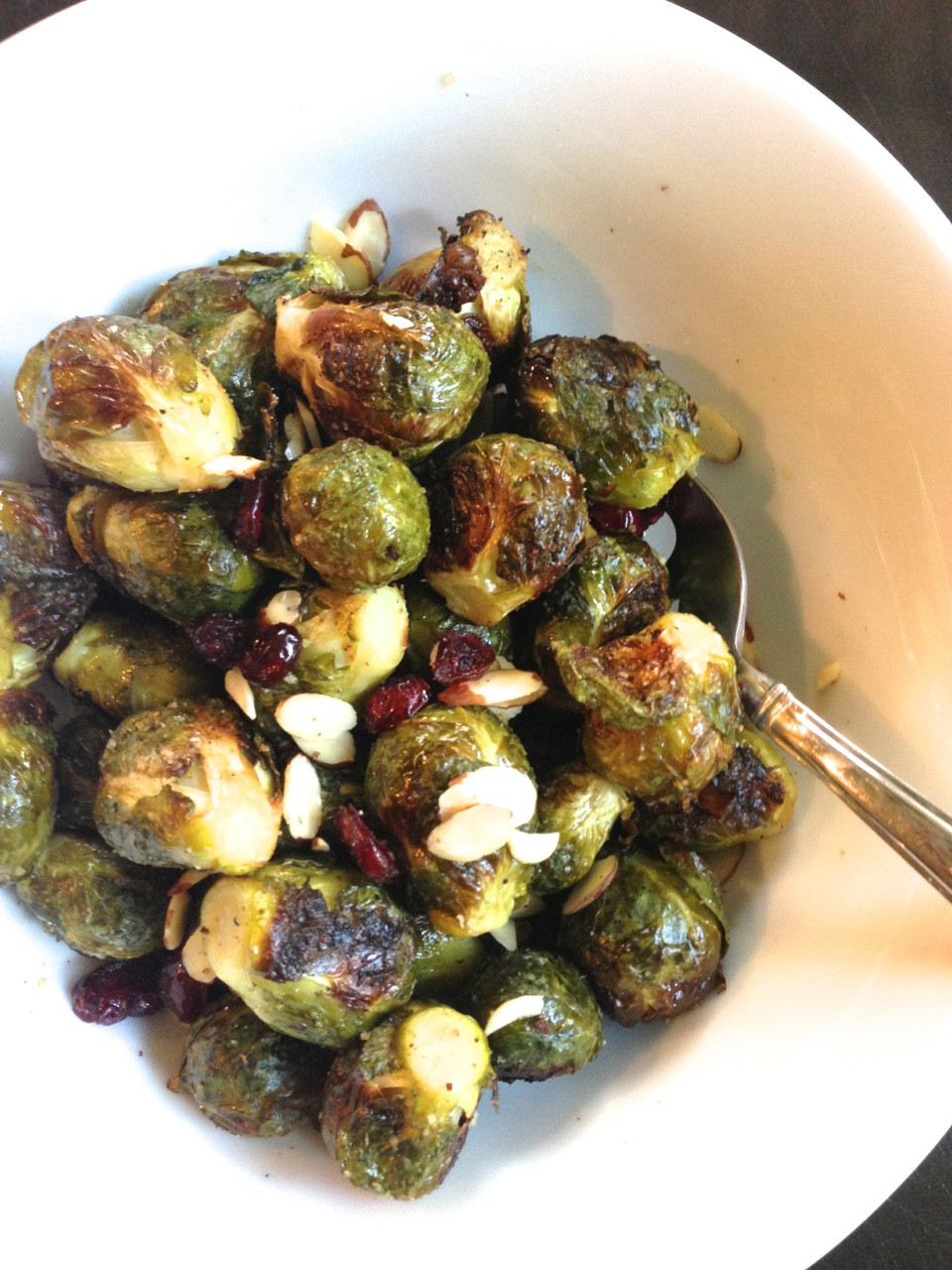 Roasted Brussels Sprouts Crans Almonds c2014 TRC 1.jpg