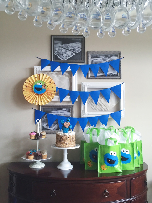 A COOKIE MONSTER 2nd BIRTHDAY PARTY