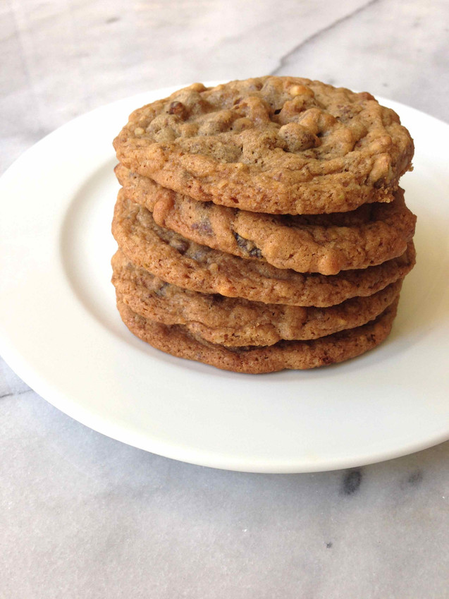 TOLL HOUSE CHOCOLATE CHIP COOKIES WITH LEFTOVER NUTS!