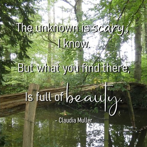 Greeting card - The unknown is scary
