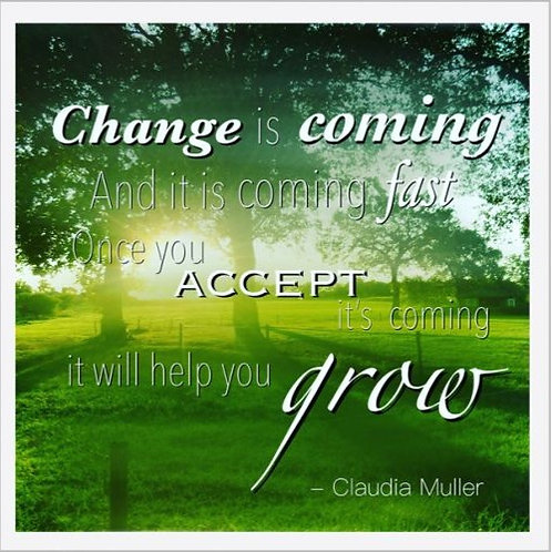 Greeting card - Change is coming