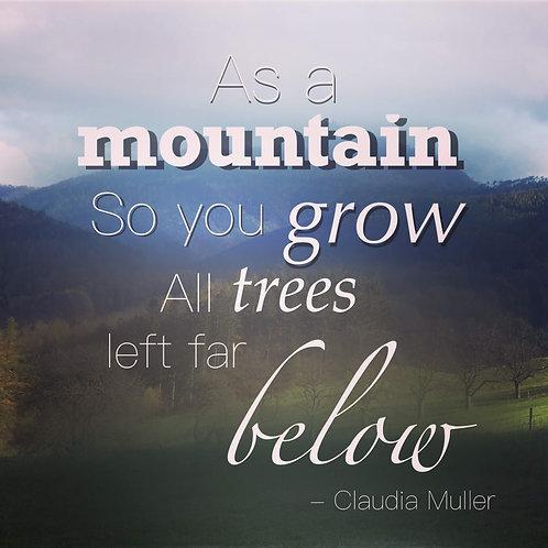 Greeting card - As a mountain