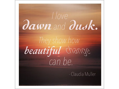 Greeting card - Dawn and Dusk