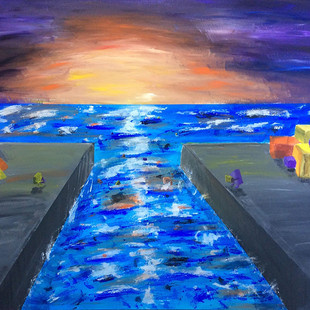 Into the sea - painting