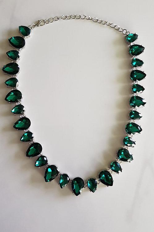 """EVA"" Necklace in Green"