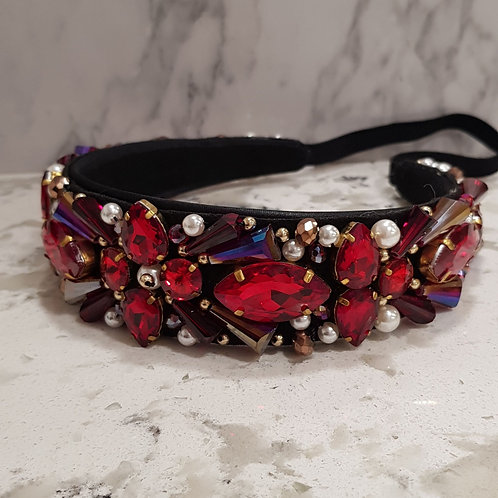 Red Jewelled Hair Band