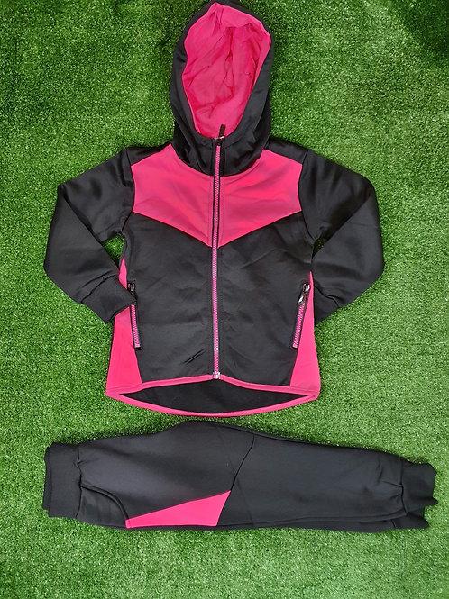 Pink & Black 2Piece Tracksuit