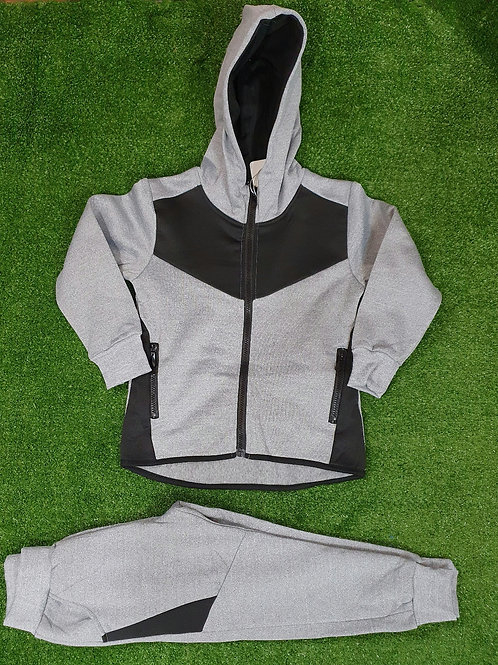 Grey & Black  2 Piece Tracksuit