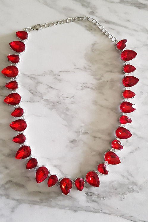 """EVA"" Necklace in Red"