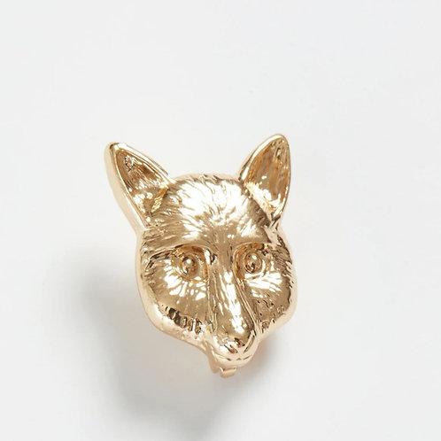 Gold Fox Brooch