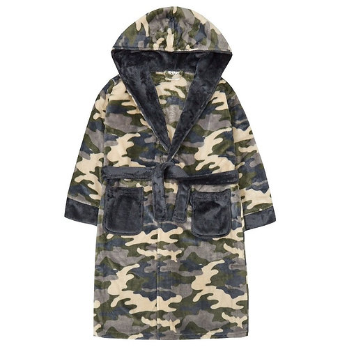 Older Boys Camoflauge Dressing Gown