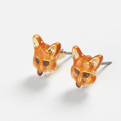 Enamelled Fox Studs