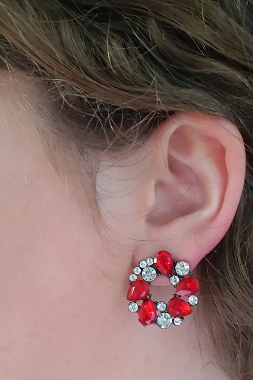 """MILLY"" Earring in Red"