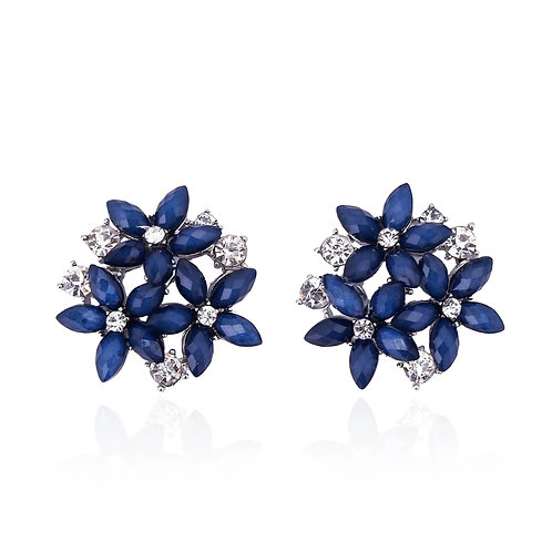 """CLAIRE"" Earring in Navy"