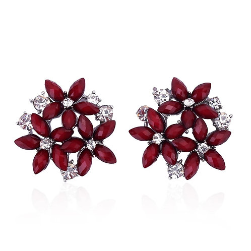 """""""CLAIRE"""" Earring in Burgundy"""