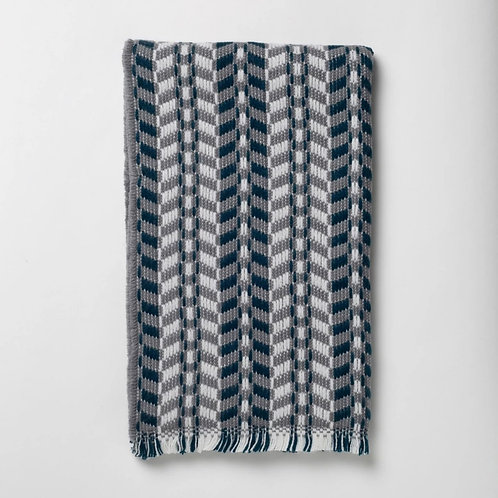 Grey and Navy Cheveron Scarf