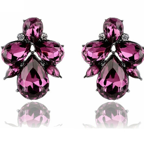 """""""BETTY"""" Earring in Purple"""