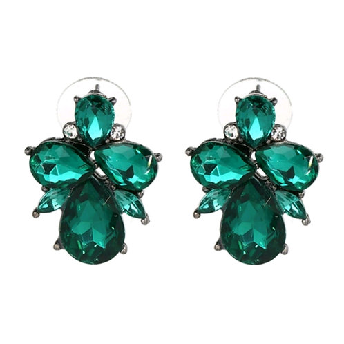 """Betty"" Earring in Emerald"