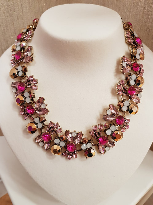 """Aisling"" Necklace in Rose"