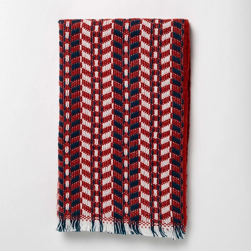 Red Cheveron Scarf